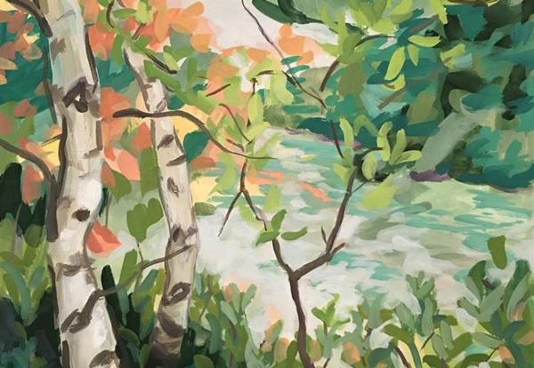 2017 Lynn Uhlmann Expressive Landscape Painting